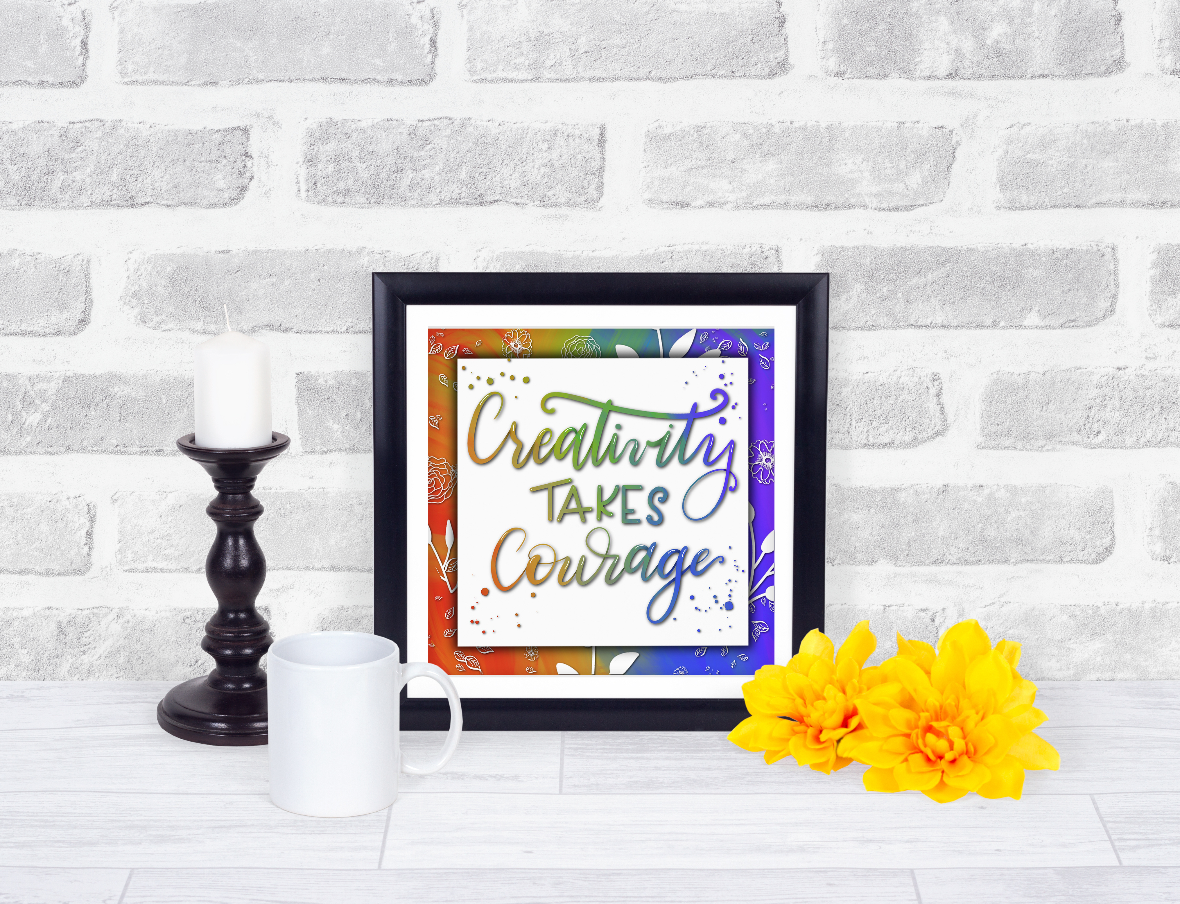 creativity take courage c mockup